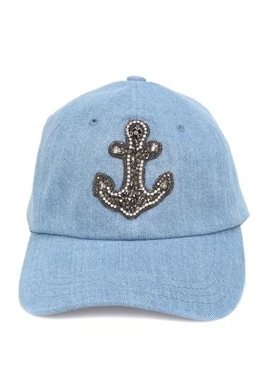 Beymen Club Beymen Club  Çapa İşlemeli Kadın Şapka 101468962 Mavi